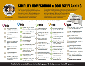 Highschool Roadmap from Simplify