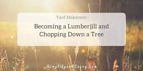 How to chop a tree down