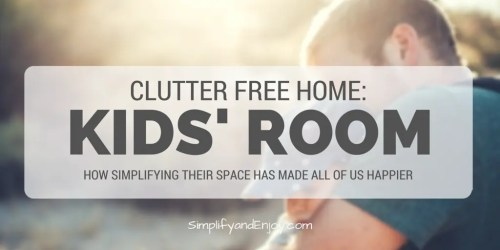 clean and declutter kids room