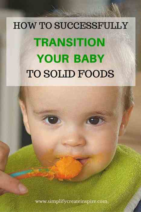 transitioning your baby to solid foods