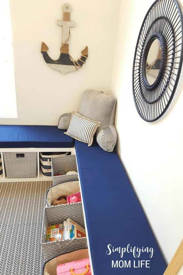 IKEA-Kallax-Hack-Storage-Benches-for-Playroom-DIY- & IKEA Kallax Hack: Storage Benches for a Playroom | Simplifying Mom Life