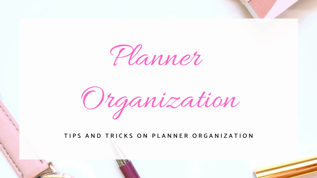 organize your planner