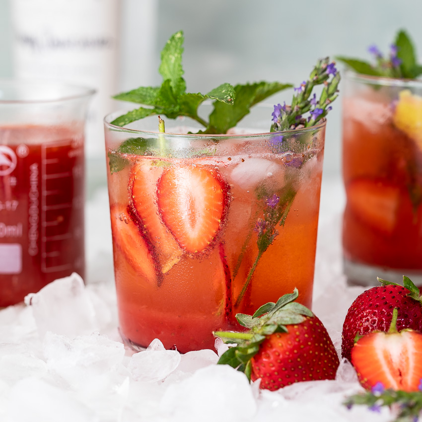 Blushing Strawberry Gin And Tonic Simply Delicious