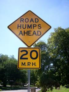 Green lights, stop signs, and speed bumps 1