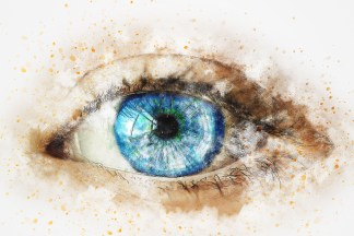 Blue Eye Digital Painting