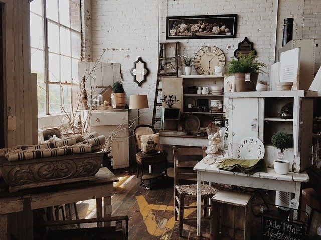 A vintage furniture store