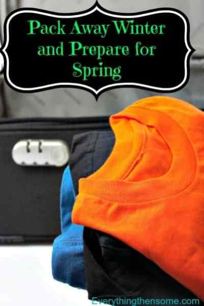 Pack Away Winter and Prepare for Spring