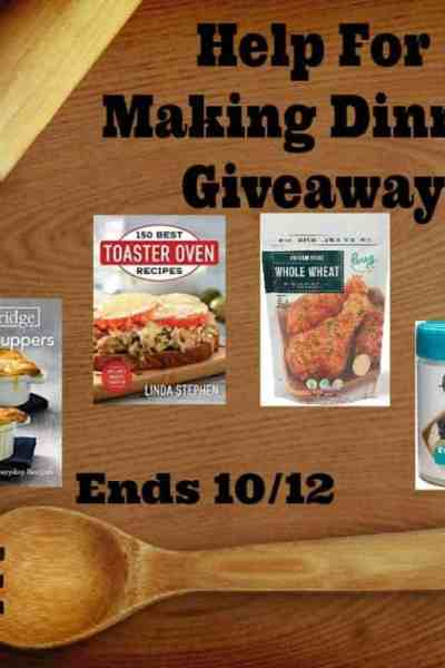 Welcome to the Help For Making Dinner Giveaway Ends 10/12