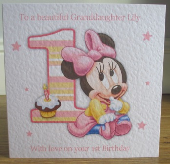 1 1st 2 2nd 3 3rd Birthday Minnie Mouse Personalised Birthday Card Simply Johanna