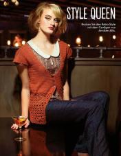 Oranger Cardigan Fantastische Häkel-Mode-Ideen 0515