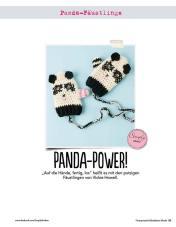 Panda Fäustlinge Fantastische Häkel-Mode-Ideen 0515