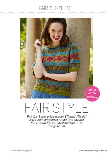 Strickanleitung Fair Isle Shirt Simply Stricken 0216