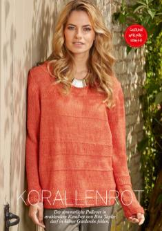 Strickanleitung Sommer-Pulli Orange