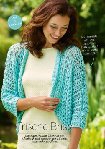 Strickanleitung Türkiser Bolero Simply Stricken 0416
