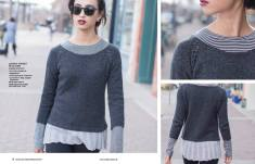 Strickanleitung Pullover Street Style Simply Kreativ Strick Mode 0117