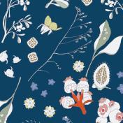 Rico Design Stoffkollektion Bouquet Sauvage
