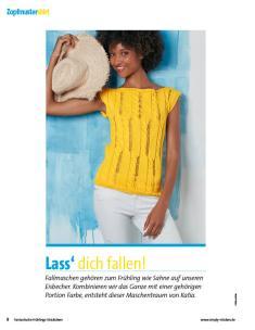 Strickanleitung - Katia Gelbes Shirt - Fantastische Frühlings-Strickideen - 0218
