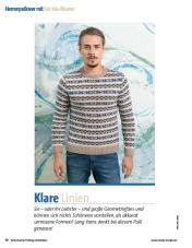 Strickanleitung - Lang Yarns Herrenpulli - Fantastische Frühlings-Strickideen - 0218