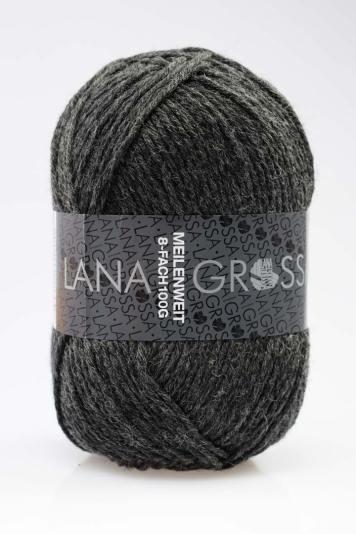 Lana Grossa Meilenweit 8-fädig Anthrazit (9557)