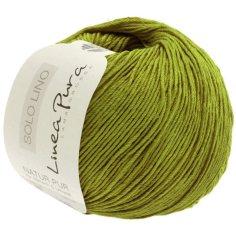 Lana Grossa Solo Lino Farbe Olivgrün
