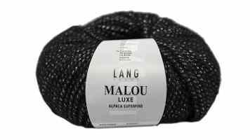 Lang Yarns, Malou Luxe, schwarz-weiß stricken