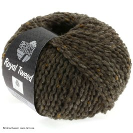 Lana Grossa, Royal Tweed, 12 Graubraun meliert