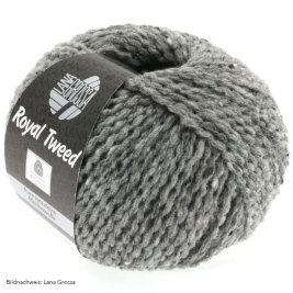 Lana Grossa, Royal Tweed, 14 Grau meliert
