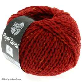 Lana Grossa, Royal Tweed, 21 Ziegelrot meliert
