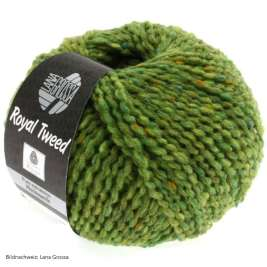Lana Grossa, Royal Tweed, 52 Hellgrün meliert