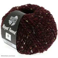 Lana Grossa, Royal Tweed, 71 Burgund meliert