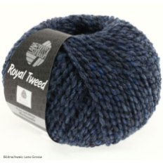 Lana Grossa, Royal Tweed, 72 Jeans meliert