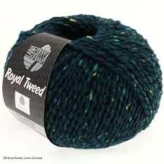 Lana Grossa, Royal Tweed, 76 Dunkelpetrol meliert