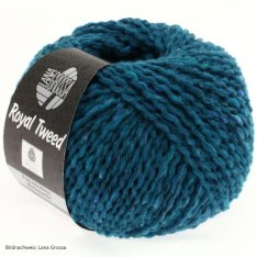 Lana Grossa, Royal Tweed, 77 Petrolblau meliert