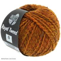 Lana Grossa, Royal Tweed, 86 Goldbraun meliert