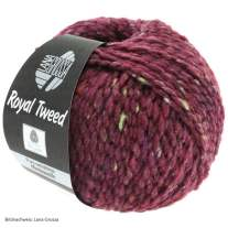 Lana Grossa, Royal Tweed, 87 Bordeaux meliert