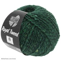 Lana Grossa, Tweed Royale, 90 Dunkelgrün meliert