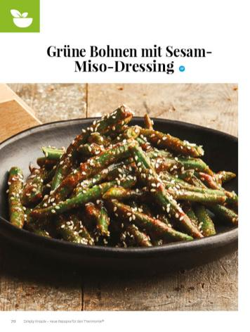 Simply kreativ - Grüne Bohnen mit Sesam-Miso-Dressing - Neue Rezepte für den Thermomix - 0218