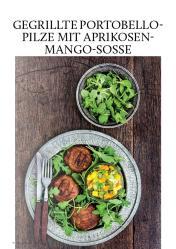 Gesund und fix - Kochen mit dem Thermomix - Gegrillte Portobello-Pilze mit Aprikosen-Mango-Sosse 0218
