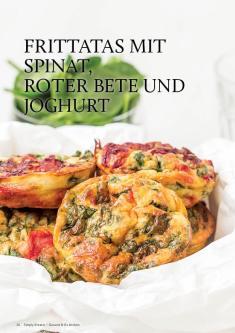 Gesund und fix - Kochen mit dem Thermomix - Frittatas mit Spinat, Roter Bete und Joghurt 0218