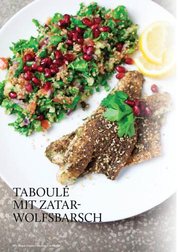 Gesund und fix - Kochen mit dem Thermomix - Taboulé mit Zatar-Wolfsbarsch 0218