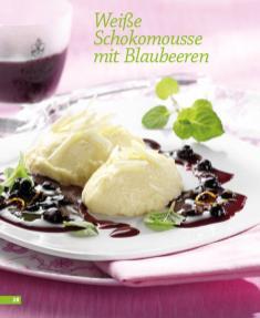 Rezept Weiße Schokomousse mit Blaubeeren