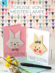 Bastelanleitung - Grüße von Meister Lampe - Simply Kreativ Heft 02/2019