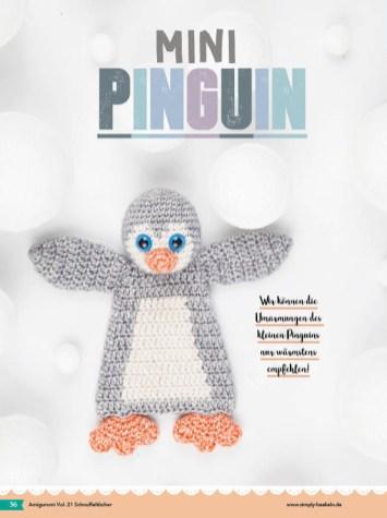 Häkelanleitung - Mini-Pinguin - Fantastische Häkelideen - Amigurumi Vol. 21