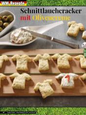 Rezept - Schnittlauchcracker mit Olivencreme - Simply Kreativ – Neue Rezepte für den Thermomix® 03/18