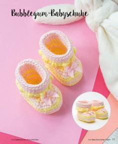 Häkelanleitung - Bubblegum-Babyschuhe - Mini Häkeln Vol. 2