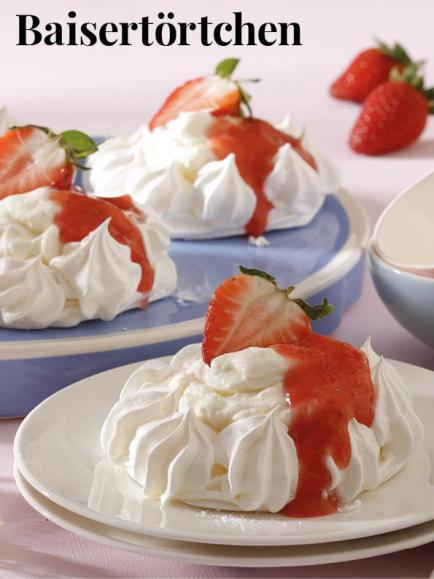 Rezept - Baisertörtchen - Simply Kreativ Erdbeeren- und Spargel-Rezepte für den Thermomix®