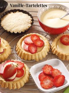 Rezept - Vanille-Tartelettes - Simply Kreativ Erdbeeren- und Spargel-Rezepte für den Thermomix®