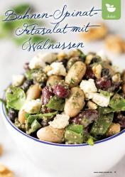 Rezept - Bohnen-Spinat-Fetasalat mit Walnüssen - Gesund & Fix mit dem Thermomix - 05/2018