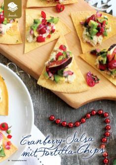 Rezept - Cranberry-Salsa mit Tortilla-Chips - Gesund & Fix mit dem Thermomix - 05/2018