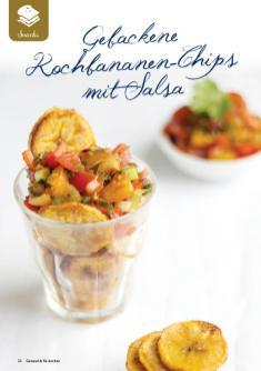 Rezept - Gebackene Kochbananen-Chips mit Salsa - Gesund und fix mit dem Thermomix - 0418